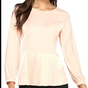 The Limited coral pink  longsleeve peplum top!